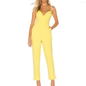 NWT BCBG MAX AZRIA Plunging Cut Out Jumpsuit